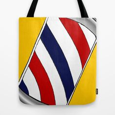 Barber Pole Tote Bag by sucreabeille - $22.00