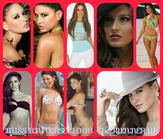 TALIANA VARGAS, 1st RUNNER UP of MISS UNIVERSE 2008, MISS COLOMBIA.