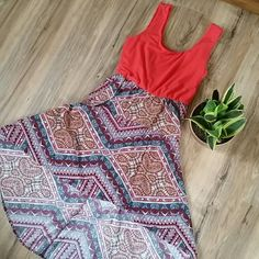 High low hippie dress tie dye tribal Aztec Listed as urban for exposure Urban Outfitters Dresses High Low
