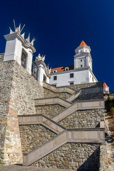 Stairs to the Bratislava Castle | Things to do in Bratislava, Slovakia