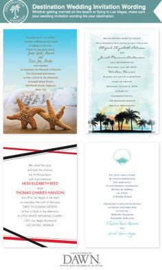 destination wedding invitation wording from invitationsbydawn.com