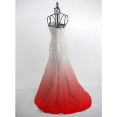 Maybe something like this or lighter for a  wedding dress #red #ombre