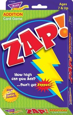 ZAP!® Addition & Subtraction Card Game, T76303