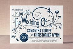 Vintage Blush Letterpress Invitations  |  Minted