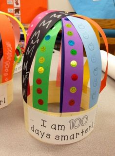 100th Day of School Hat | School, Sentences and Students