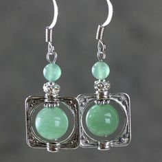 Hey, I found this really awesome Etsy listing at https://www.etsy.com/listing/95467408/jade-square-frame-drop-earrings-stone