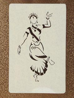 pencil drawings - Female Dancer Sanjhi Wall Art 14 X 10 Girl Drawing Sketches, Doodle Art Drawing, Art Drawings Sketches Simple, Girly Drawings, Pencil Art Drawings, Pencil Sketches Easy, Pencil Sketch Drawing, Wall Drawing, Dance Paintings