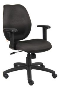 harwick premium leather drafting chair with arms black drafting