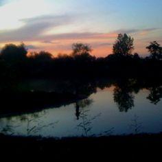 Texas Sunset behind the fishing pond. Texas Sunset, Fish Ponds, Wilderness, Twilight, Sunrise, Fishing, Celestial, Nature, Outdoor