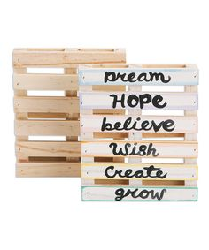Love this Mini Wood Palettes - Set of Six on #zulily! #zulilyfinds