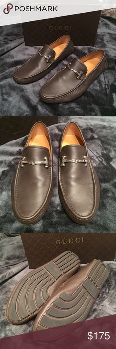 Gucci Men's Brown Drivers New with box Gucci men's brown drivers/ slip on loafers never worn size 10 Gucci Shoes Loafers & Slip-Ons