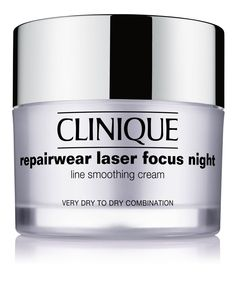 Repairwear Laser Focus Night Line Smoothing Cream - Very Dry to Dry Combination, 1.7 oz. - Clinique