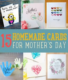 Handmade Mother's Day Cards to Make for Mom