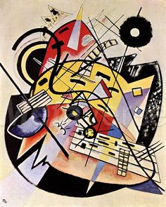 Vasilij Vasil'evič Kandinskij, The White Dot, 1923. Colore ad olio, 91 cm x 73 cm. Hamburger Kunsthalle