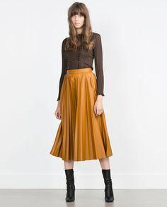 PLEATED MIDI SKIRT-View all-Skirts-WOMAN | ZARA United States