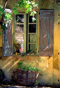 Old Provence Window with shutters. by Julien Lautier. Old Windows, Windows And Doors, Web Gallery, Window View, Window Dressings, Through The Window, Old Doors, Doorway, Belle Photo