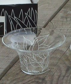 Vintage Boxed Pair of Rosendahl Hand Made Danish Glass Filigran Bowls Tea Light Holders by Lin Utzon £15 #FollowVintage