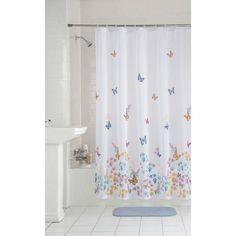 Mainstays Butterfly Fabric Shower Curtain - Walmart.com