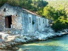 Agia Sofia beach , with the beautiful old house ..., Kefalonia , Greece . Photo by Thalia.P.