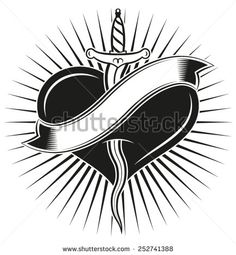 """""""Kriss"""" tattoo. Dagger �kriss� in tattoo style - stock vector"""