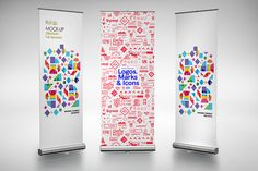 Roll Up - Mockup 1 by alexvisual on Creative Market