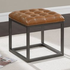 Shop For Healy Saddle Brown Mini Ottoman. Get Free Shipping At  Overstock.com  . Furniture SaleOnline ...