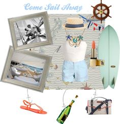 A fashion look from July 2012 featuring bone dress, low rise shorts and coral sandals. Browse and shop related looks. Coral Sandals, Lady Grey, Nantucket, Boats, Party Ideas, My Style, Polyvore, Ships, Ideas Party