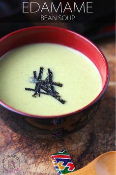 Edamame Bean Soup (Vegan Recipe)