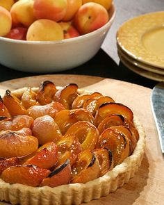 """Frank Mentesna and Jerome Audureau are co-founders of Once Upon a Tart, a bake shop and cafe in New York City, and co-authors of """"Once upon a Tart ...: Soups, Salads, Muffins, and More."""" This sweet, flaky apricot tart is one of their signature confections."""