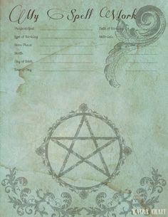 Katra Craft: Book of Shadows and Light entry sheet - free download http://www.cafepress.com/thevintagewitch