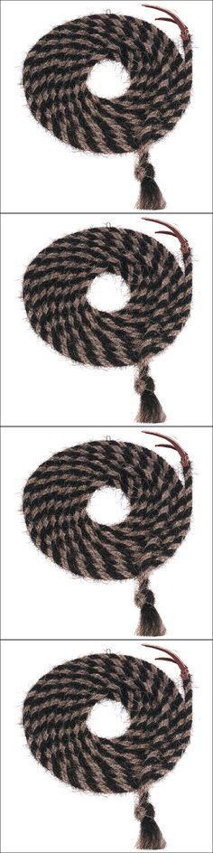 Other Western Tack 47301: Black Light Brown 20Ft Weaver Leather Tail Hair Mecate Horse Hand Braided Reins -> BUY IT NOW ONLY: $72.95 on eBay!