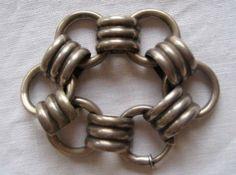 Los Castillo chunky link vintage 1940s bracelet by abroochable, $665.00