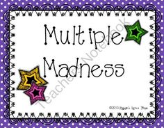 Multiple Madness Math Game from Zephyr'sLittlePond on TeachersNotebook.com -  (6 pages)  - A game to practice finding multiples.