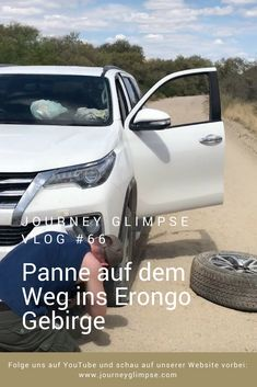 Ein platter Reifen gehört zu einer Namibia-Reise wohl einfach dazu. Auch wir haben uns einen solchen eingefangen. Namibia, Journey, Platter, Youtube, Viajes, Simple