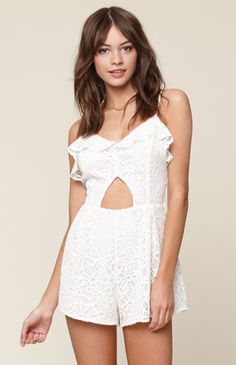 Tried this on in the store and it was amazing. White Romper Dress, Babydoll Dress, Lifestyle Clothing, Pacsun, Star Crossed, Rompers, Stars, Lace, Swimwear