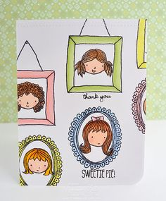 Stampin Up Sweetie Pie and Sweetie Pie Frames by Veronica Zalis