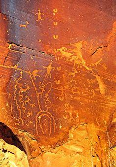 Petroglyphs at Kane Creek, Moab, Utah; photo by Mark Weber