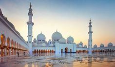 The #Grand #Mosque of #SheikhZayed was built between 1996 and 2007 and is the #largestmosque in the United Arab Emirates. It ranks as one of the top #tourist #attractions in the #country and has a structure huge enough to hold 1200 #Muslims when they pray together in a congregation.  Read more: http://goo.gl/9rN7lD https://goo.gl/gsBw9c
