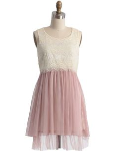 Claire De Lune Tulle Dress in Pink: 100 Lace Dresses for Summer: Style: teenvogue.com