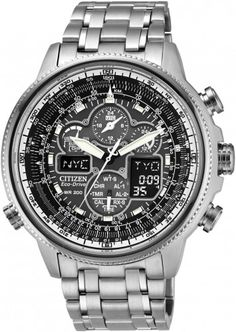Citizen Eco-Drive Navihawk AT Global Radio Controlled Pilots Men s Watch  JY8030-59E Breitling a0275719b82f