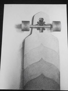 Longboard pencil drawing