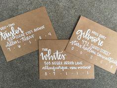 Hand addressed envelopes for wedding by lovewellhandlettered