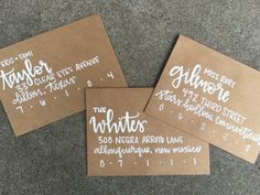 Hand addressed envelopes for wedding by lovewellhandlettered