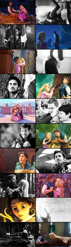 Captain Swan ouat ( Hook & Emma ) and Tangled ( Flynn Rider & Rapunzel ) - PARALLELS ❤
