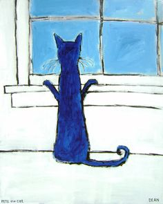 Pete the Cat - The first time I saw these paintings I was in Savannah, GA.  This one actually reminds me of my dog, Cocoa.