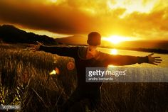 silhouette of man with his hands raised at sunset Praise The Lords, Praise And Worship, Gospel Music, Christian Music, His Hands, Savior, Reign, Music Videos, Sunset