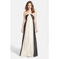 Jim Hjelm Occasions Two-Tone Pleat Chiffon Gown