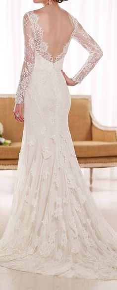 V Back Lace Gown