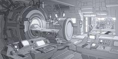 Med bay concept, Toni Pykalaniemi on ArtStation at https://www.artstation.com/artwork/39xKo