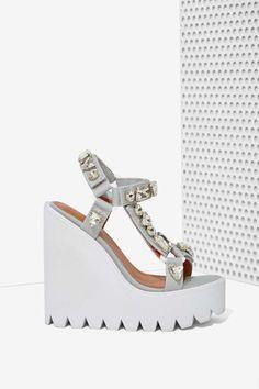 Jeffrey Campbell Loriel Embellished Wedge | Shop Shoes at Nasty Gal